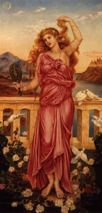 Helena van Troje door Evelyn De Morgan (1898)