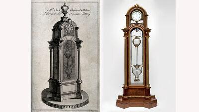 Cox's Timepiece; ontwerptekening en uitgevoerd exemplaar