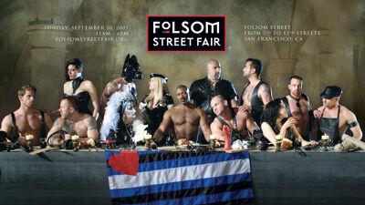 Homo-erotische affiche voor de 'Folsom Street Fair'