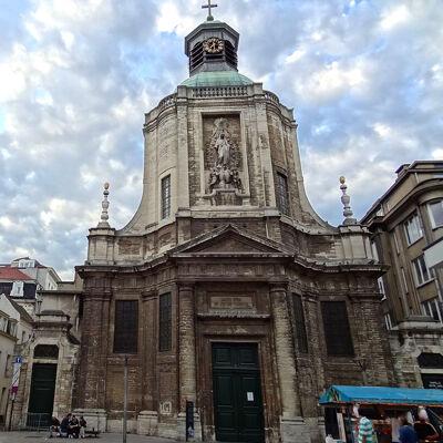 Finistèrekerk in de Nieuwstraat te Brussel