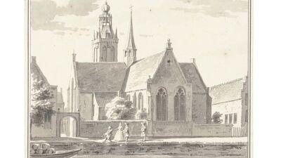 Kleine Markendaalse Kerk in Breda (prent 1729), nu gesloopt