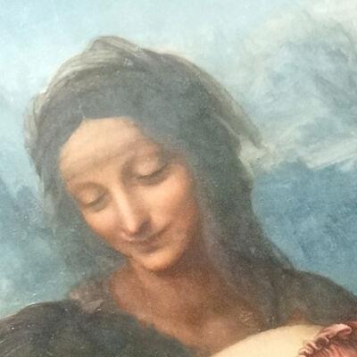 Sint-Anna, detail van Maria met kind en Sint-Anna