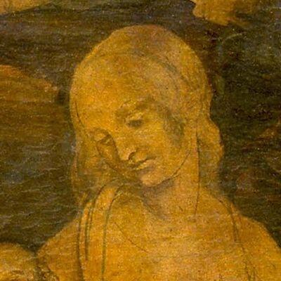 Maria, detail uit Aanbidding der Wijzen