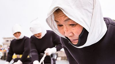 Japanse Ama-duiksters