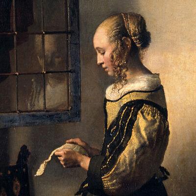 Vermeer: Brieflezend meisje