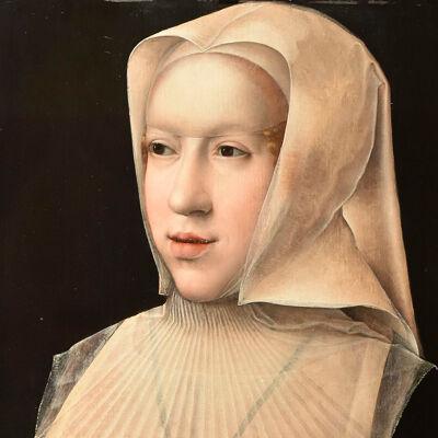 Margaretha van Oostenrijk met wit weduwenkapje
