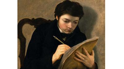 Antoine Wiertz: Zelfportret op 18-jarige leeftijd