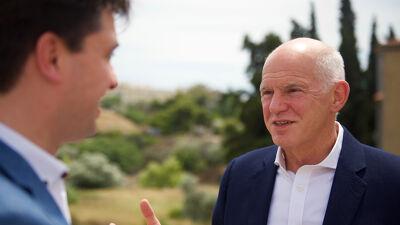 met voormalig Grieks premier Papandreou