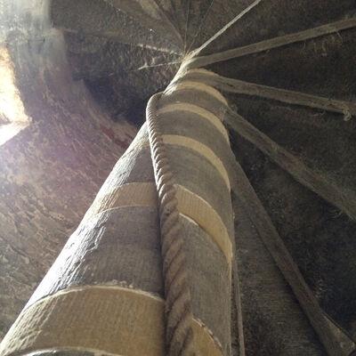 In het traptorentje