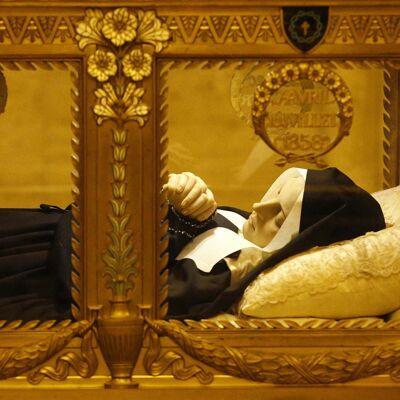 Lichaam van Bernadette Soubirous van Lourdes