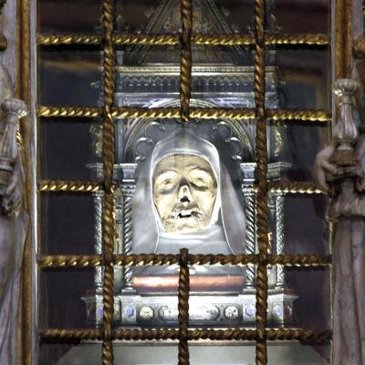 Reliek van het hoofd van de Heilige Catharina van Siena