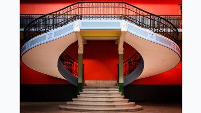 Het tweelingbroertje van de trap, maar dan in het Sint-Amandscollege van Kortrijk