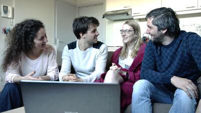Maria-Cristina Ciocci, Cato's vriend Giel, Cato en Lieven Scheire.