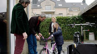 Lieven Scheire, maker Ronald Van Ham, Morgan en haar mama.
