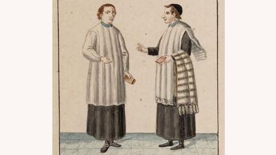 Ambtskledij van de kapelaans en de Zellaristen-kanunniken