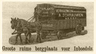 Advertentie van de firma A. Schrauwen (ca. 1900)