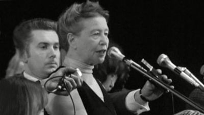 Simone de Beauvoir op 11 november 1972.