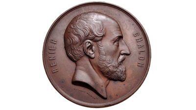 Medaillon met portret van Renier Chalon (1873)