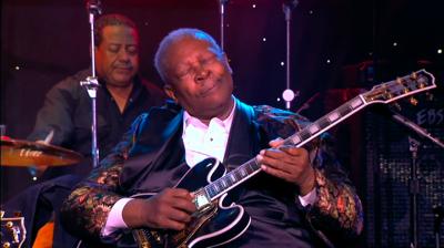 B.B. King en Lucille (zijn gitaar) tijdens een concert