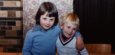Frank en zijn zus Sandra
