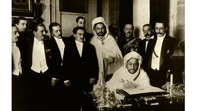 De ondertekening van de Conventie van Algeciras, 1906