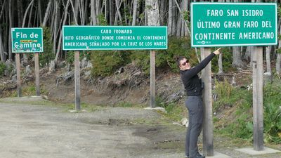 Celine aan het einde van de weg.