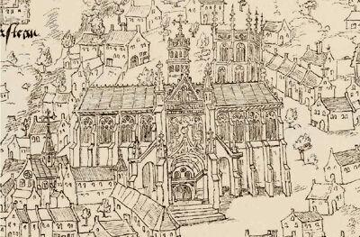 Tekening van de kathedraal, ca. 1539