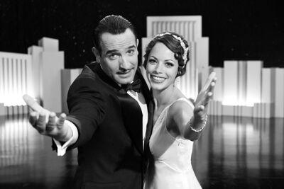 Jean Dujardin en Bérénice Bejo in The Artist.