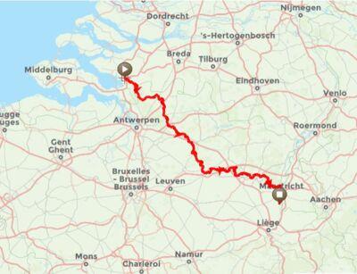 De GR5 in Vlaanderen