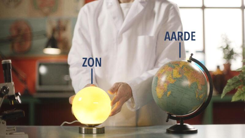zon en aarde - opgelet: de verhoudingen kloppen niet