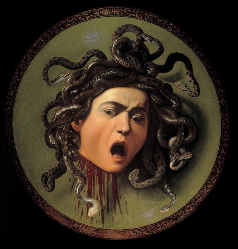 Medusa, ca 1597 - Michelangelo Merisi da Caravaggio