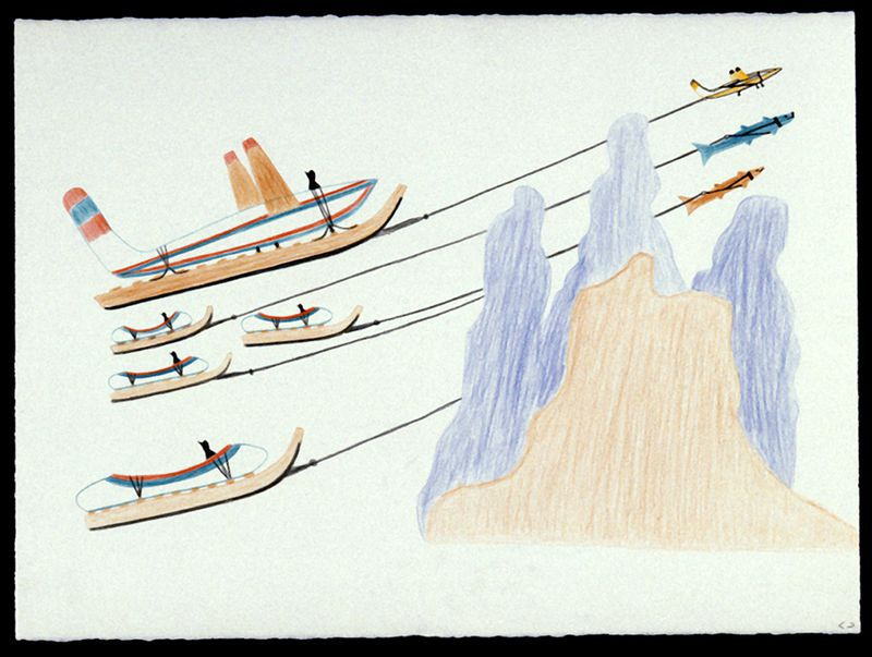 Journey into phantasy (1980). Collection of the West Baffin Eskimo Co-Operative Ltd., on loan to the McMichael Canadian Art Collection