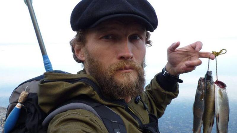 Sylvain Tesson aan het Bajkalmeer in Siberië