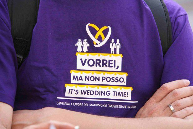 """""""Ik wil wel, maar ik mag niet"""" - Campagne voor het homohuwelijk in Italië."""