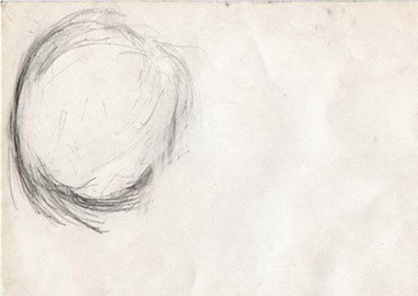 2001 fruit pencil 210x295mm, één van de laatste tekeningen van Utermohlen