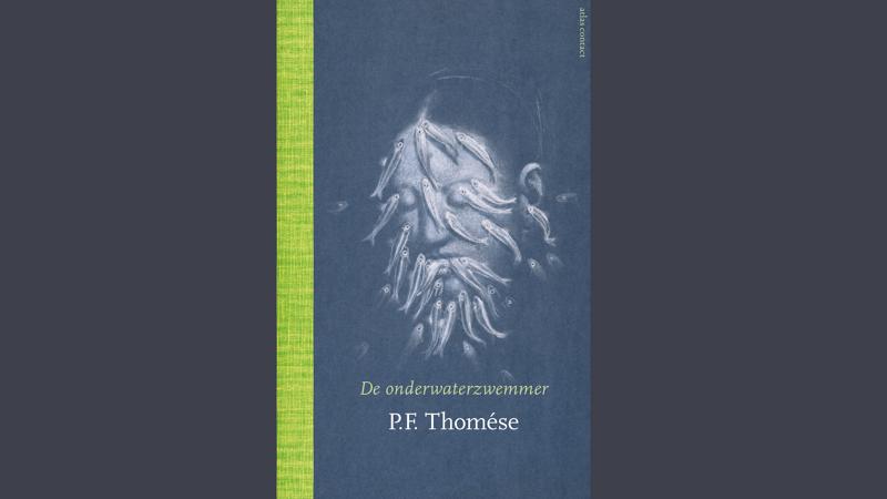 """""""De onderwaterzwemmer"""" van P.F. Thomèse, omslagontwerp Suzan Beijer, omslagbeeld Juul Kraijer."""