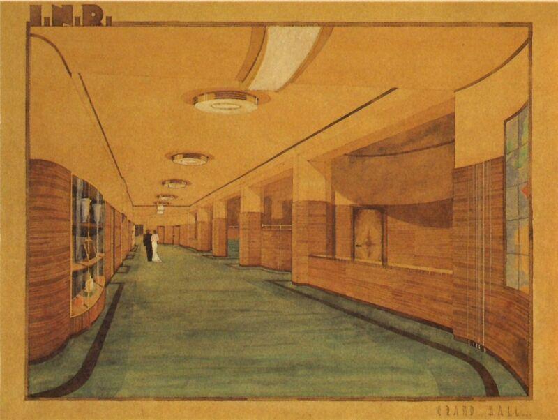 Flageygebouw, ontwerp hal