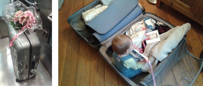 Mijn koffer voor en na de treinreis