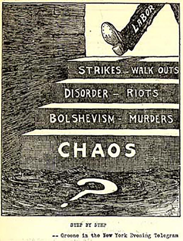 a history of the red scare in 1919 in the united states For americans the years of 1919 and 1920 were in fact years of turmoil, fear, and hysteria the context of this first red scare was one of economic dislocation (the impact of war and demobilization), high levels of immigration, rising union membership, nationwide strikes, and the ripple effects of the russian revolution of 1917.