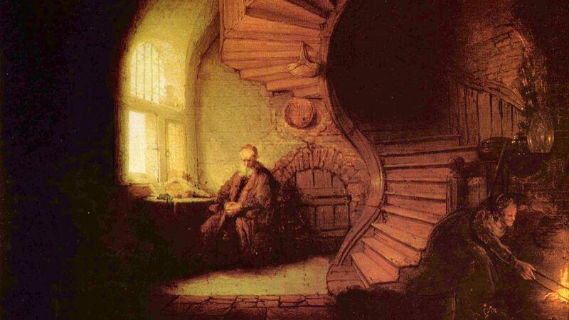 Rembrandt: De filosoof