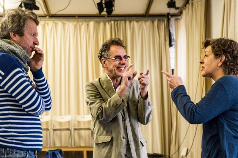 Peter De Graef (m) met Lucas Van den Eynde en Tania Van der Sanden