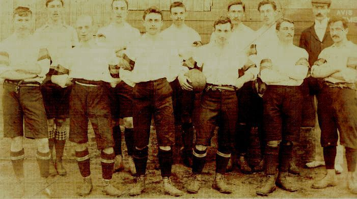 Het eerste Belgische elftal uit 1901
