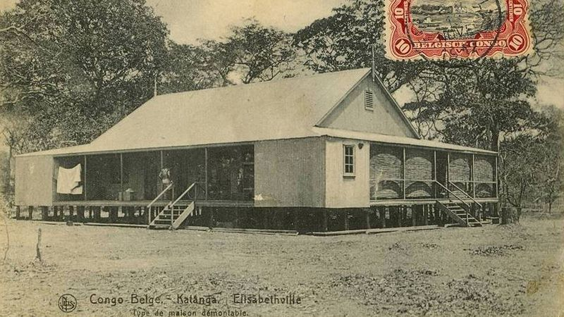 Type 'maison démontable' uit Katanga