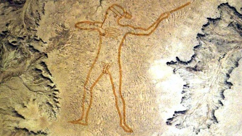 De Marree Man (Zuid-Australië), satellietbeeld
