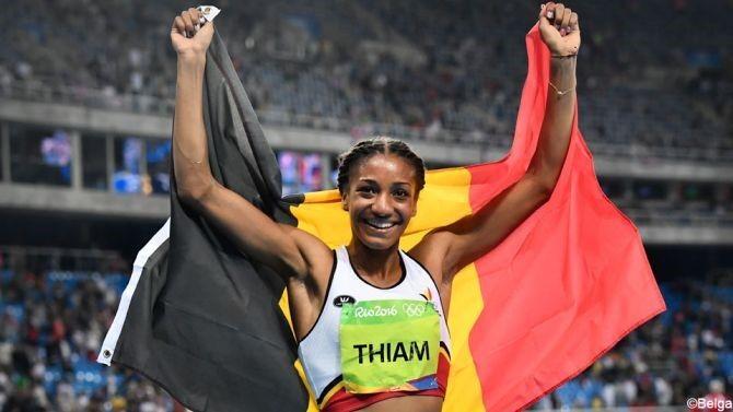 Nafi Thiam werd in Rio olympisch kampioene zevenkamp.