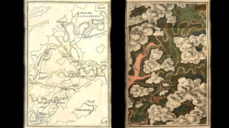 De dubbele kaart van Baldwin à la google maps
