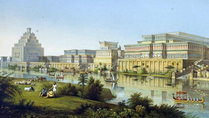 Voorstelling van het oude Nineve