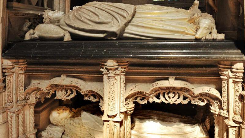 Het graf van Margaretha in Brou