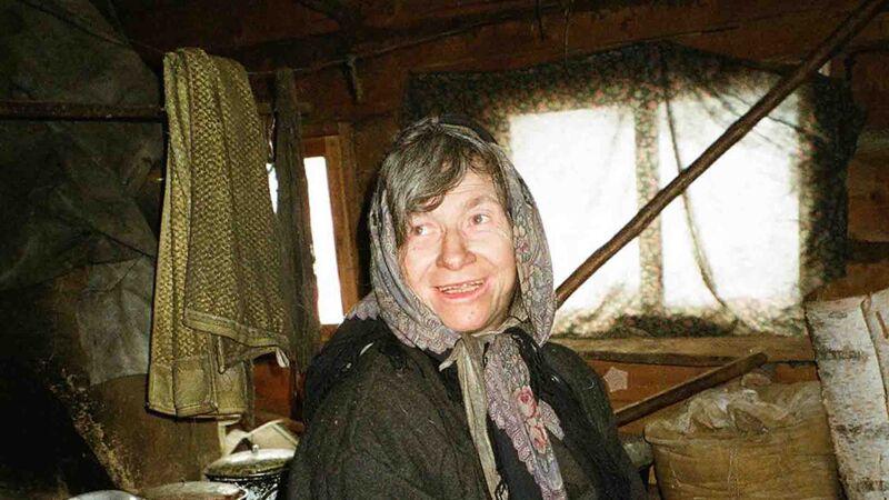 Agafia Lykova in haar hut