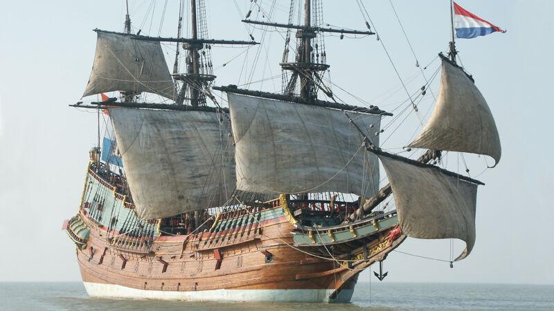 Hollands VOC-schip, hier een reconstructie van de 'Batavia'
